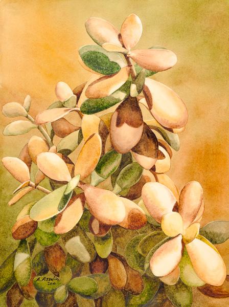 L'arbre de jade, 12 x 15 po