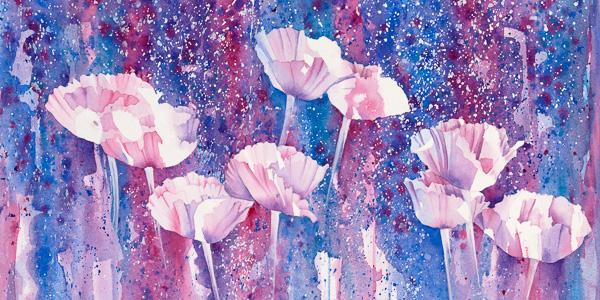Givre fleuri 10 x 20 po