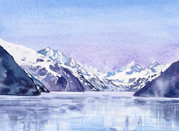 Glacier Bay, Alaska 10 x 10 po