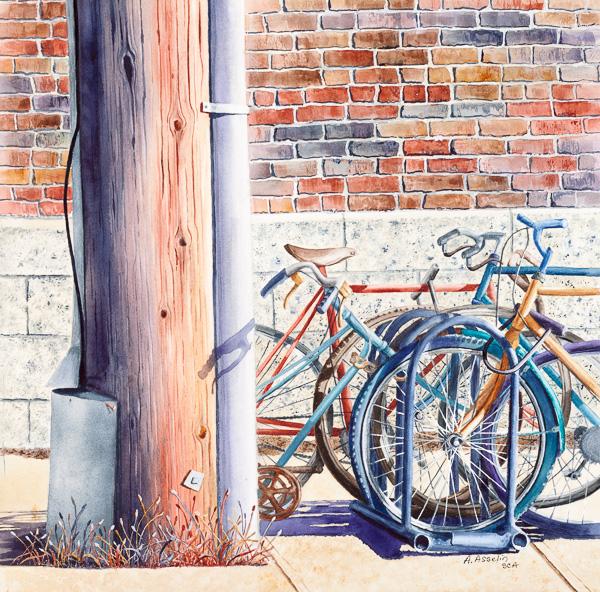 Vélos-cité, 15½ x 15½ po
