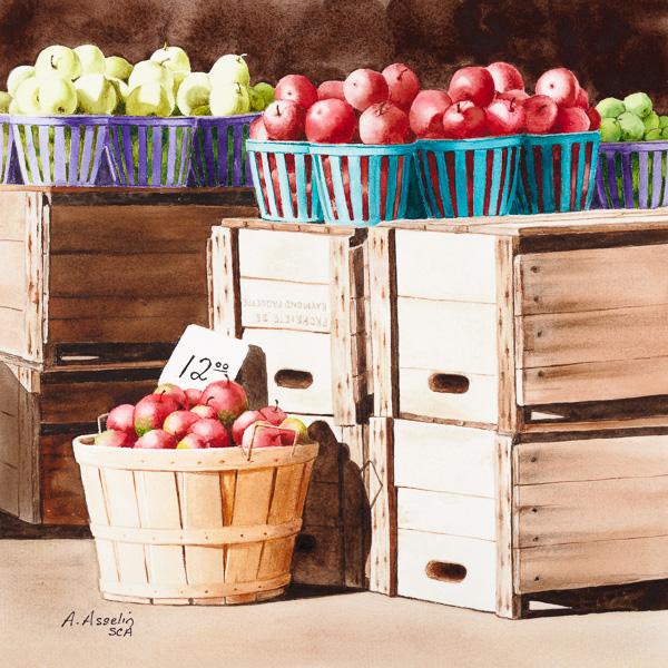 Tomber dans les pommes, 10 x 10 po